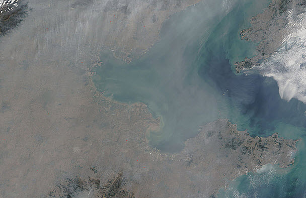 luchtvervuiling boven China